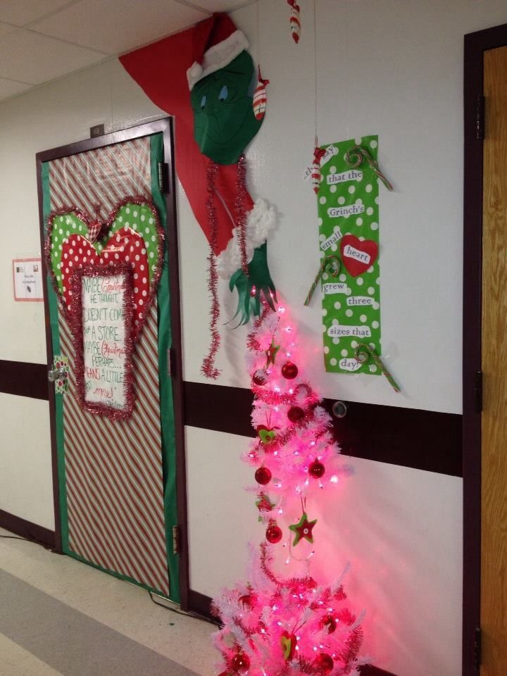 Grinch Christmas Door Decorating Contest Classroom Door