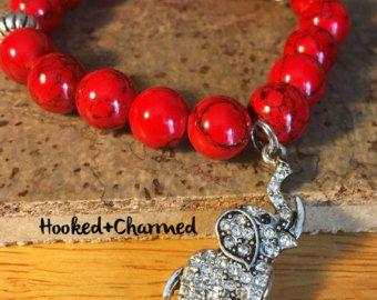 Delta Sigma Theta Sorority Bracelet Elephant by HookedandCharmed