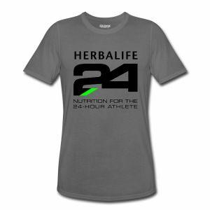 Herbalife 24 Large Black Logo - Men's Performance T-Shirt