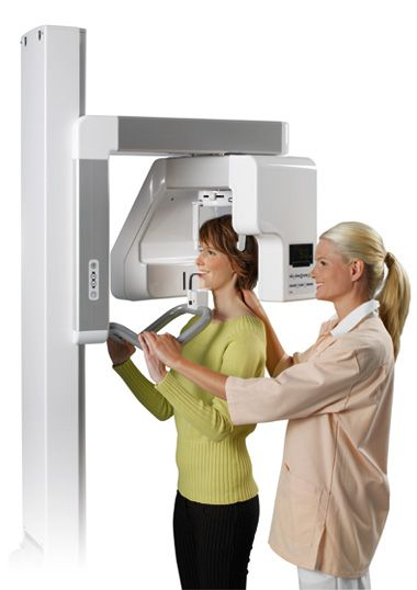 The x-ray systems use ionizing radiation which carries some risks for the patient. However, the new and advanced form of CT uses cone shaped x-ray beam which is the same size as the scanner. This way the radiation dose for the patient and the scanning time are minimized.   #Digital panoramic x-ray
