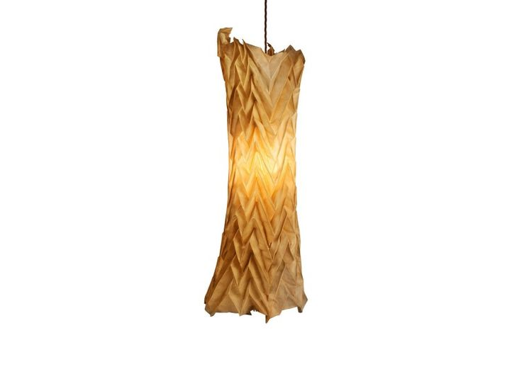 Pinaki Studios presents a collection of lighting made from pleated parchment leather produced exclusively for Foglizzo Leather.