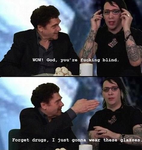 Just Marilyn Manson.. // funny pictures - funny photos - funny images - funny pics - funny quotes - #lol #humor #funnypictures