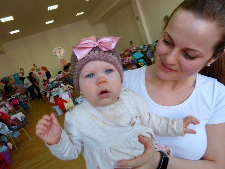 Sweetie baby in my crochet cap :-)