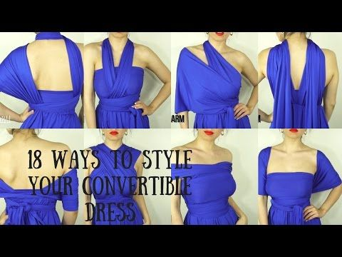 2:55!    18 Ways To Wear A Convertible/Infinity Dress| Dress and Charm - YouTube