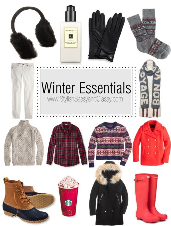 Winter Essentials // Earmuffs. Gloves, Scarf, Big Sweaters. Coats. Bean Boots. Hunter Boots. #JCrew