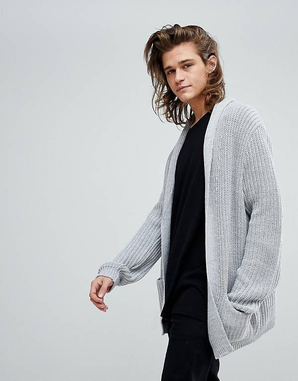 ASOS Ultimate Knitted Cardigan In Pale Gray in 2019 | Knit