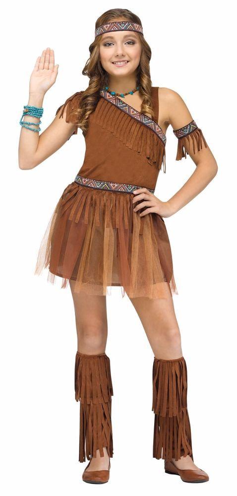 Chicas Indio Nativo Americano Disfraz Elaborado Vestido Tutú Marrón Niños Infantil M L Nuevo in Ropa, calzado y accesorios, Disfraces, teatro, representación, Disfraces | eBay