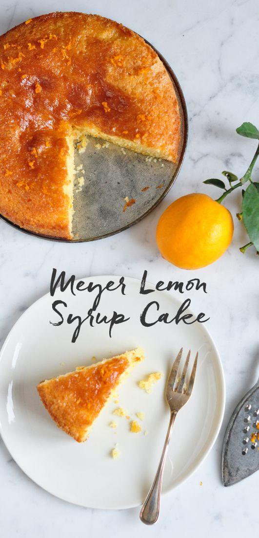 Meyer Lemon Syrup Cake | eatlittlebird.com