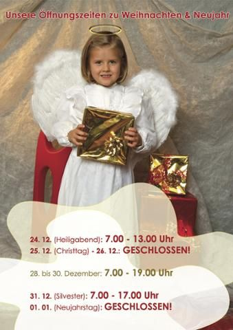 Schon mal zum Vormerken: unsere Öffnungszeiten zu den Feiertagen :-) #christmas #weihnachten #christkind #essen #food #bakery #bäckerei