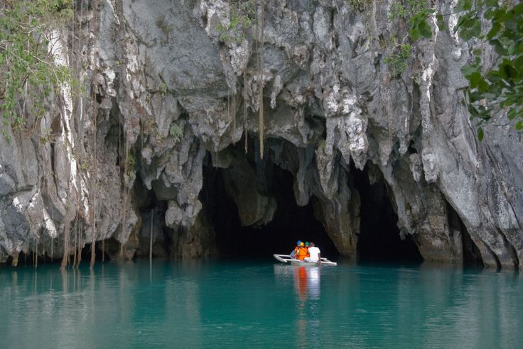 The five-mile-long Puerto Princesa Subterranean River on the island of Palawan is the world's longest navigable underground river.