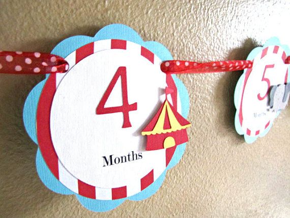 Circus Party  1st Year Photo Banner  Carnival by ScrapYourStory, $26.95