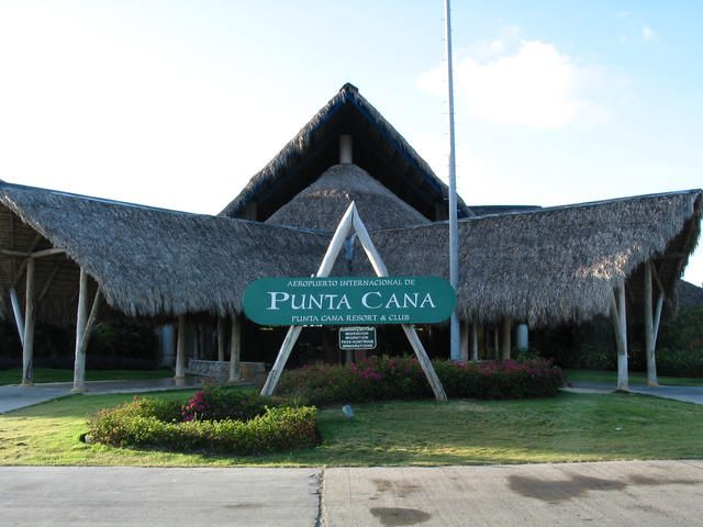 Punta Cana airport, it looks like a little hut. a little nervous about the plane ride!