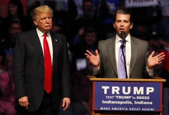 Donald Trump's son posts edited Top Gun clip showing President shooting 'CNN' out of sky  Donald Trump Jr describes the Top Gun clip as 'one of the best I've seen'