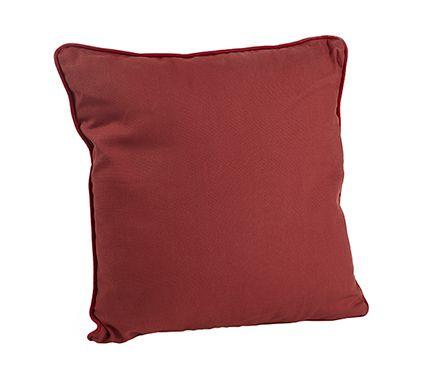 Cojín de sofá y cama DANDY PALOMA SOLAPA GRANATE. También naranja y otros 40x40. Leroy Merlin (sofá Barna)