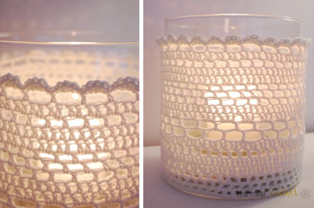 the new crochet: Crochet candle light cover