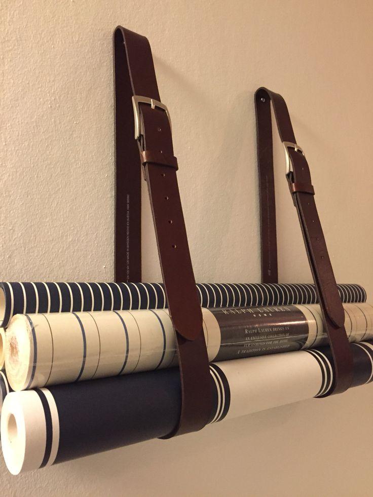 Tapetrullar i läderrem Vardagsrum Pinterest Vardagsrum