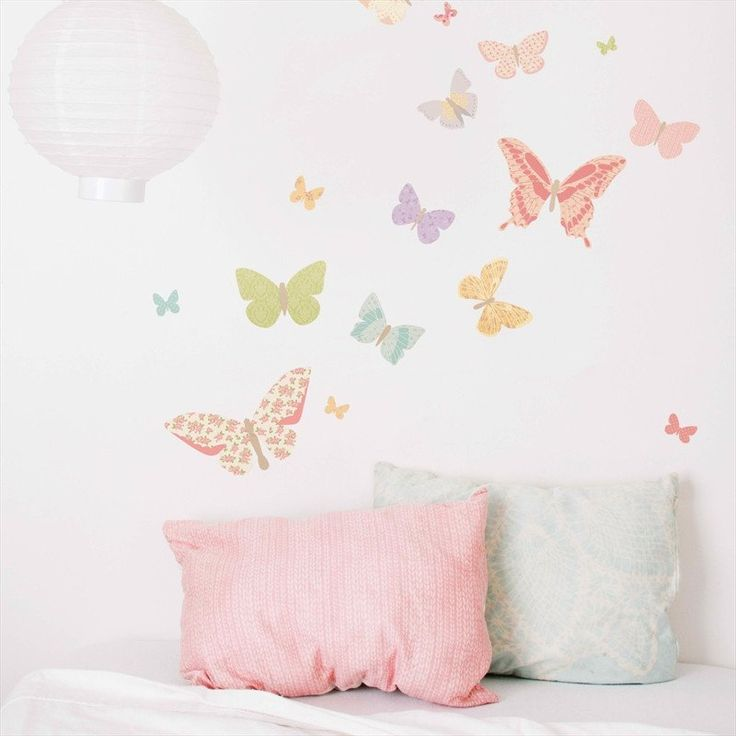 Small Butterfly Decals - Girly