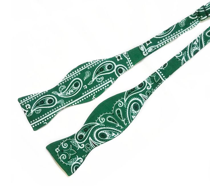 Hunter Green Bandana Bow Ties and Hair Bows