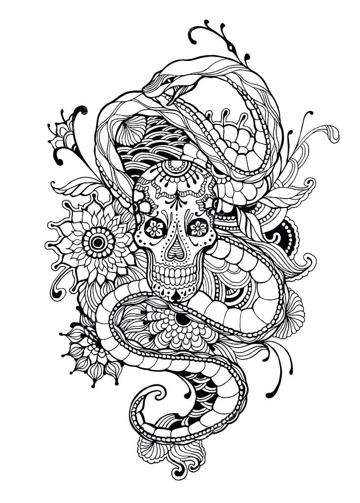 Tattoo Coloring Pages Tattoo Design Coloring Pages Skull