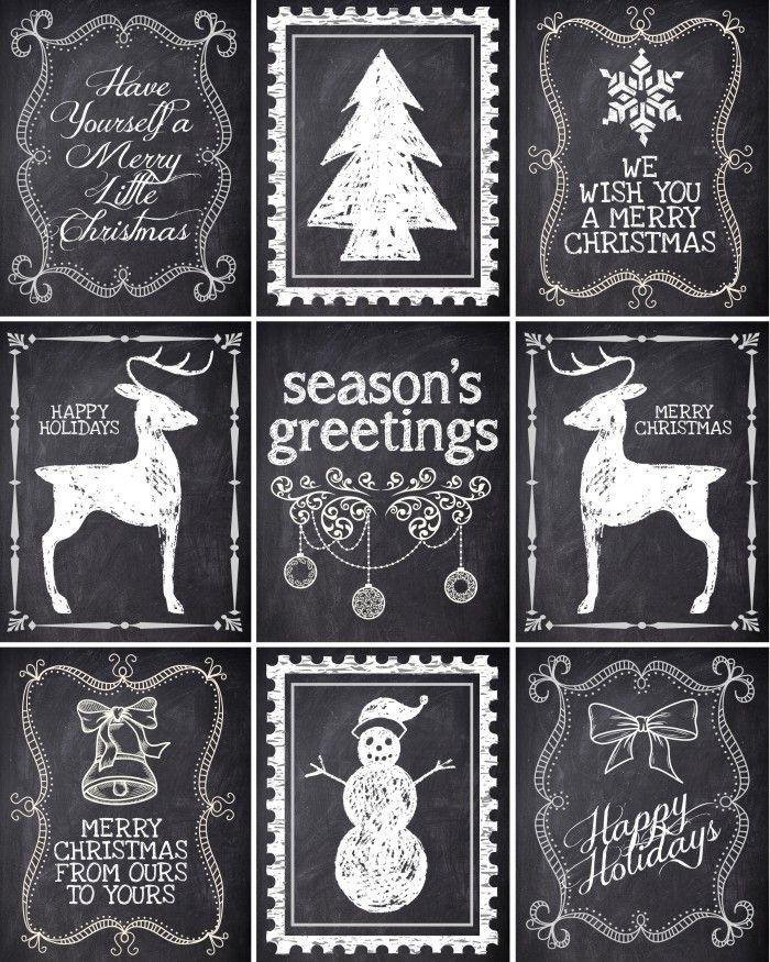 schoolbord labels etiketten kerst