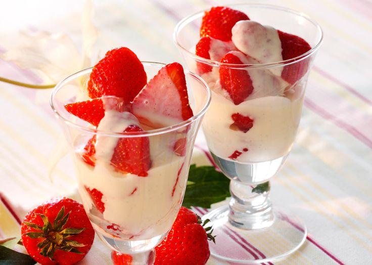 Jordbær i glas