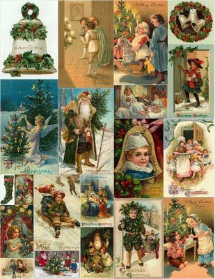 Christmas Collages @ http://magicmoonlightfreeimages.blogspot.com/2009/11/christmas-collages-for-you.html