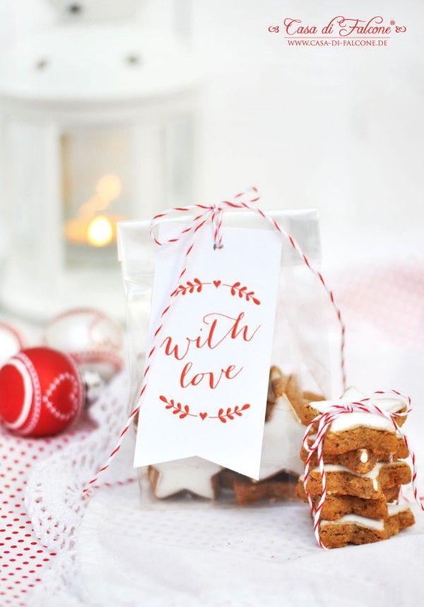 Zimtsterne hübsch verpackt I Weihnachtsbäckerei I Weihnachtskekse I Geschenke aus der Küche I homemade gift I food packaging I Casa di Falcone