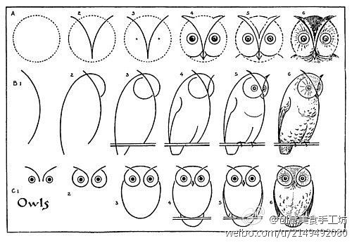 How to draw an owl. Must make some with my kiddos!!!Howtodraw, Drawing An Owl, Ideas, Draw An Owl, To Drawing, Drawing Owls, Art, How To Draw, Crafts