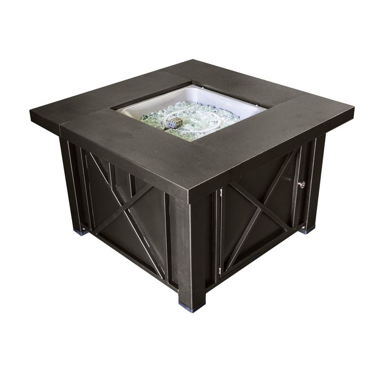 AZ Patio Heaters Lyons Steel Propane Fire Pit Table
