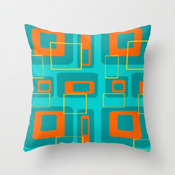 Modern Turquoise Pillows : 117 best Crash Pad Designs Modern Throw Pillows images on Pinterest Modern throw pillows ...