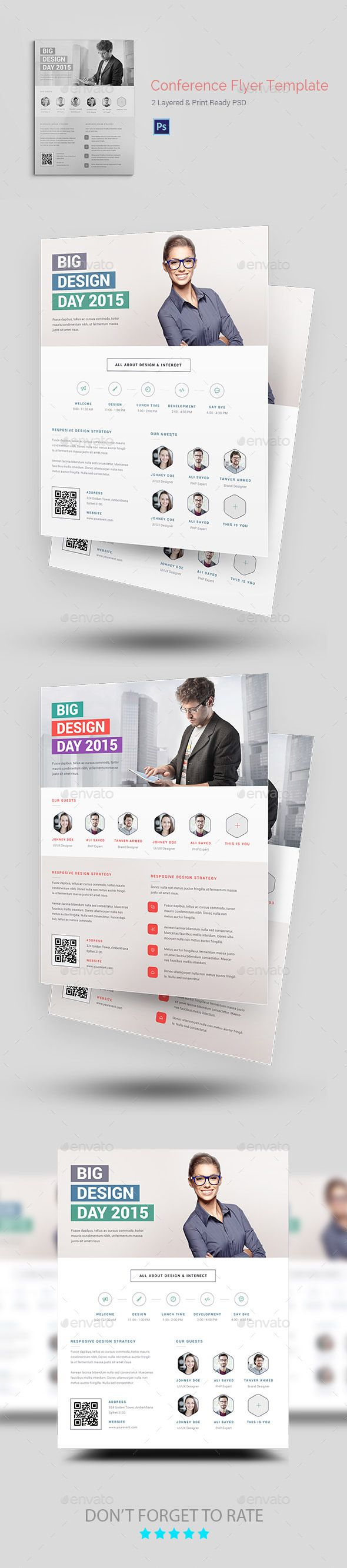 Mindblowing Conference/Event Flyer Templates • Only available here ➝ http://graphicriver.net/item/conferenceevent-flyer-templates/11725208?ref=pxcr