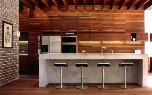 I love the modernist look. I love wood and metal there is just something so beautiful about it!
