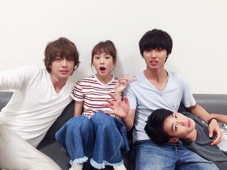 """BTS Mirei Kiritani x Kento Yamazaki x Shohei Miura x Shuhei Nomura, J drama """"Sukina hito ga iru koto (A girl & 3 sweethearts)"""", Sep/2016"""