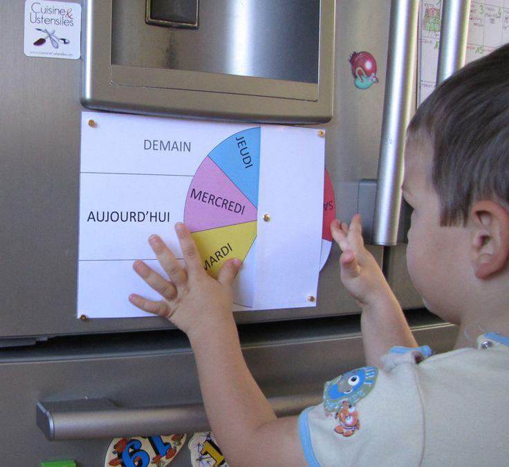 Après avoir vu cela dans la classe de maternelle de mon fils, j'ai souhaité vous faire partager ce semainier très ludique pour apprendre les jours de la semaine aux enfants.  Pour fabriquer ce semainier, il vous faudra :…Lire la suite…