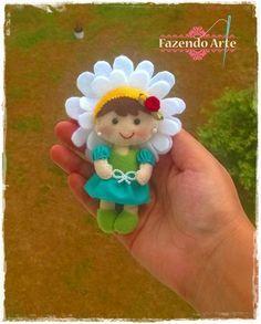 Eu Amo Artesanato: Boneca flor com molde
