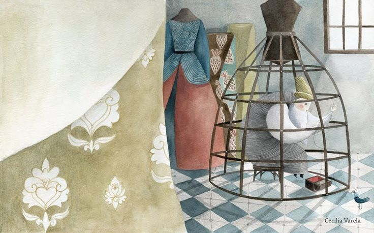 "Cecilia Varela illustration for ""El corazón del Sastre""."
