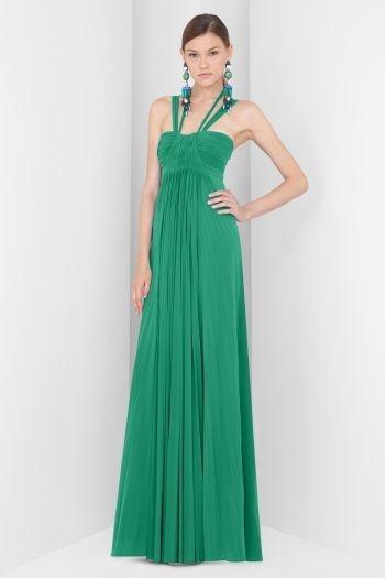 Traje de fiesta en bonito color verde esmeralda. | Green ...
