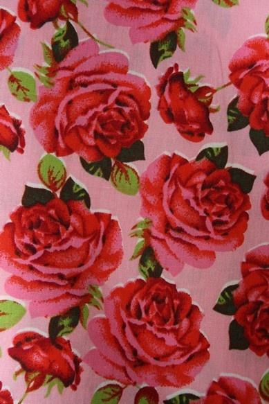 Grote rozen katoen