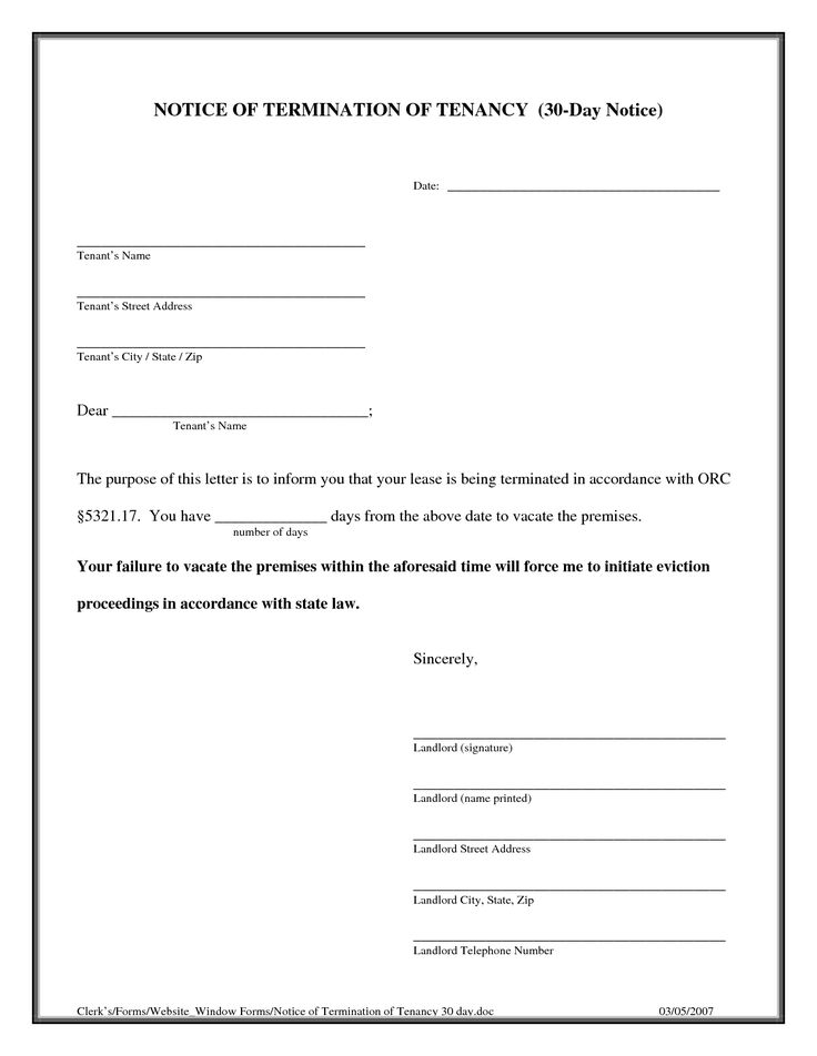How Write Termination Notice Essay Lease Letter Sample Eforms