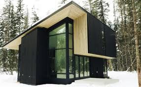 mono pitch homes - Google Search Like the light timber eaves and the contrast of the walls