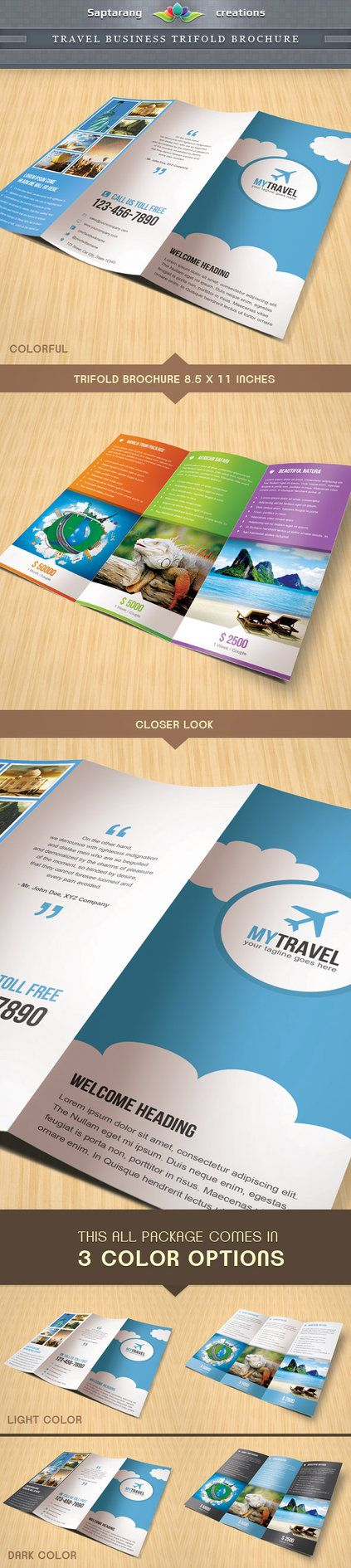 Travel Business Trifold Brochure by ~Saptarang on deviantART