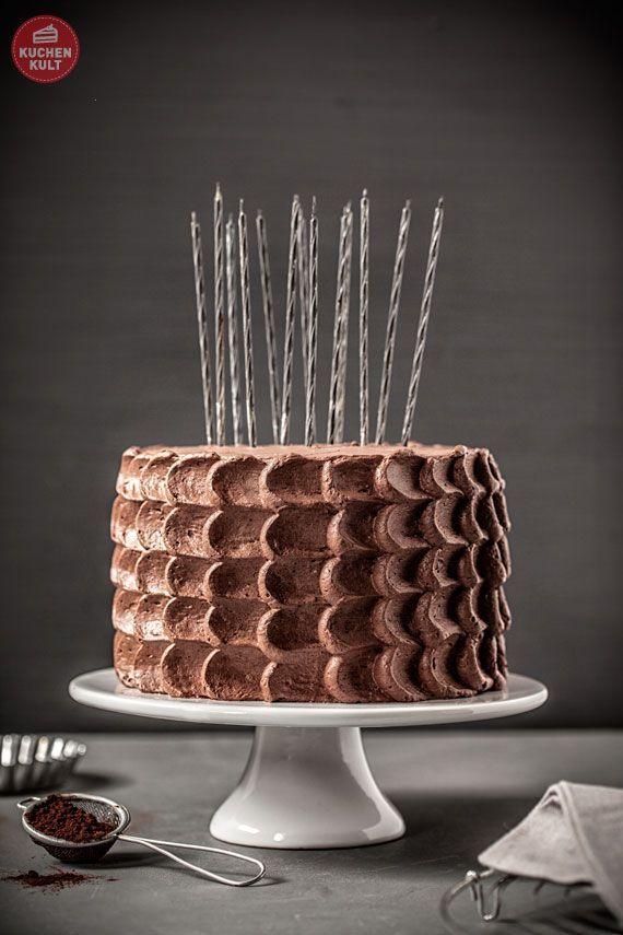 Schokoladentorte zum Geburtstag  torte  Pinterest