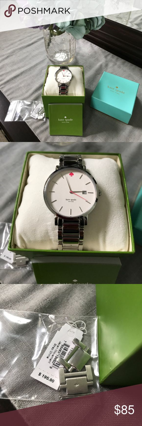 Kate Spade Oversized Watch Like New This watch was worn once or twice. It is in excellent condition. Comes with everything pictured. kate spade Accessories Watches