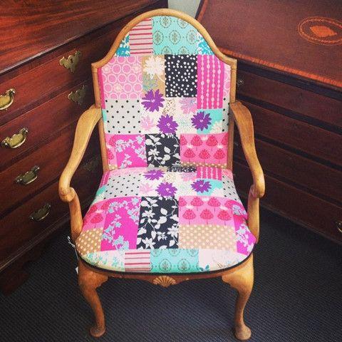 Echino reupholstered vintage chair - ReVamp Vintage