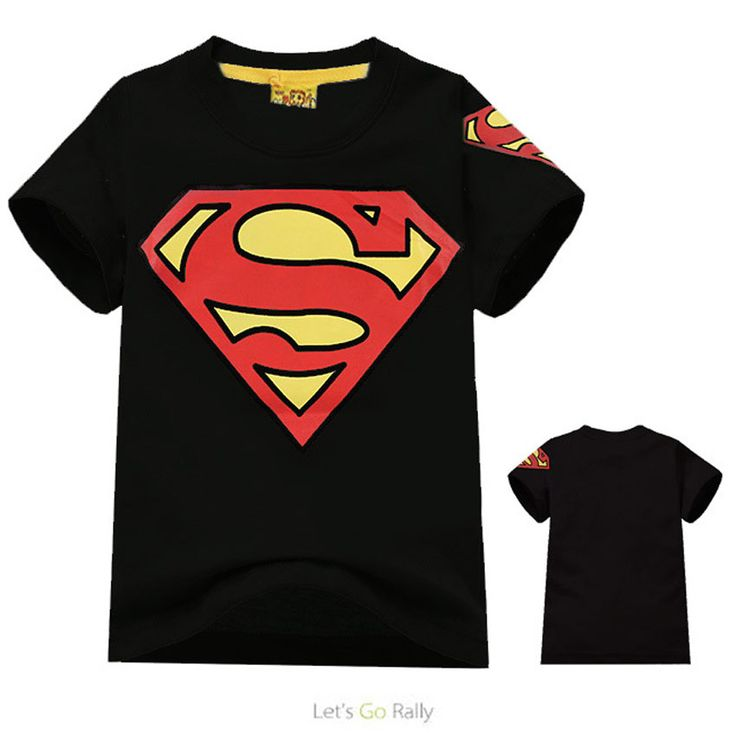 2017 Kids Black Superman T shirt Boys Cotton Short Sleeve Tee Shirt Children Summer Tees Tops Boy New Fashion Tops for Boys A372
