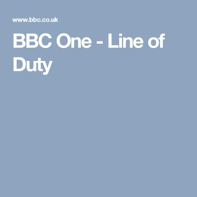 BBC One - Line of Duty