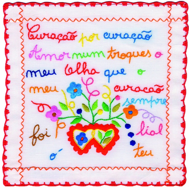 Handmade Valentine's Handkerchief - Vila Verde, via Flickr., traditional crafts, Porto and North of Portugal region, Portugal