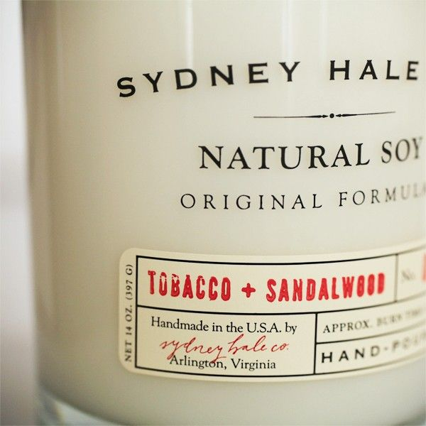 Sydney Hale Tobacco and Sandalwood Candle | THE Motley  >>> this candle smells amazing!!!!!!