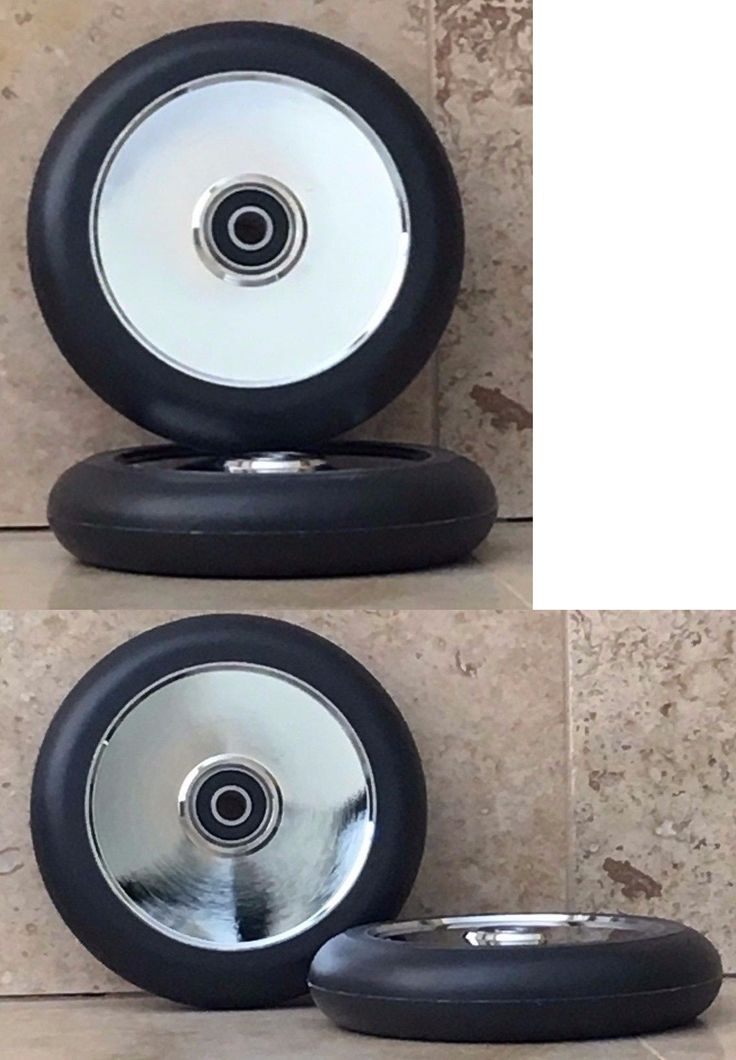 Kick Scooters 11331: Liberty Pro Scooter - 110Mm Hollow Core Polished Chrome Scooter Wheels 2Pc Set -> BUY IT NOW ONLY: $39.95 on eBay!