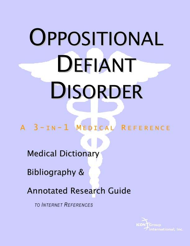oppositional defiant disorder essay Attention deficit hyperactivity disorder (adhd) is a developmental disorder characterized by inattention, hyperactivity, and impulsivity persons with mental retardation are living i do my girlfriends homework longer and integrating into their communities.